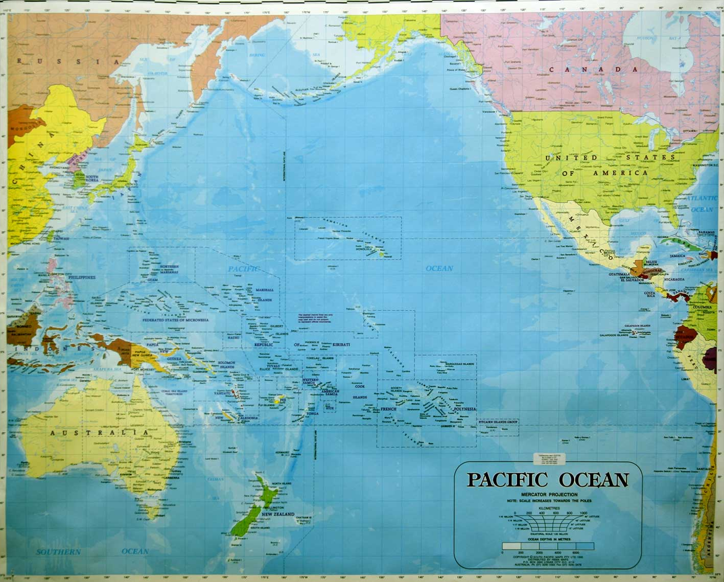 Maps Of The South Pacific Ocean