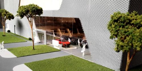 Model Terminal Park Avenue Audi - Entrance detail