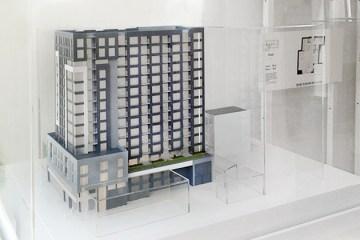 La Catherine Condominium - Maquette exposée au bureau de vente