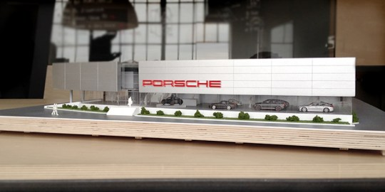 Porsche Prestige Car Dealership Model