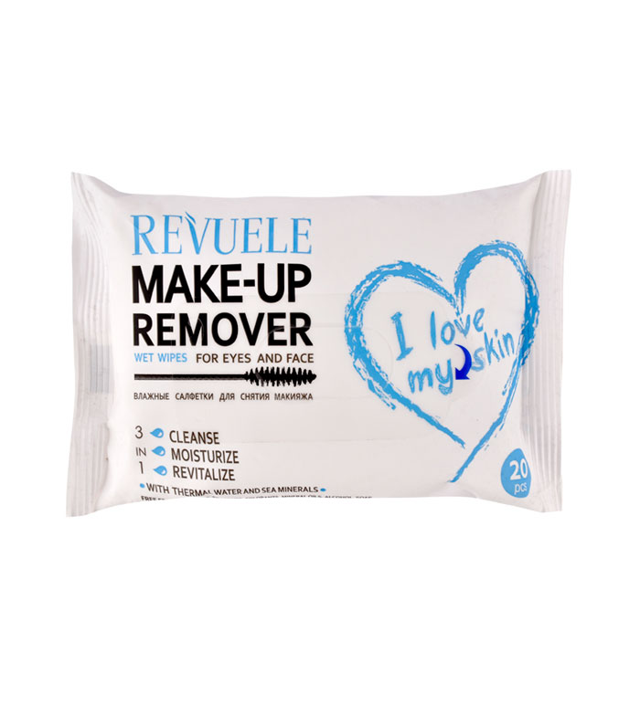 revuele i love my skin make up remover wipes for eyes and face
