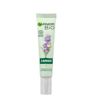 Garnier BIO - Crema Ojos Anti Edad Aceite Esencial Lavanda Ecológico y Vitamina E