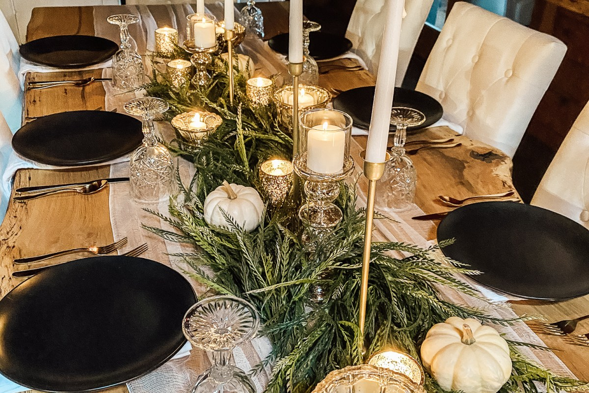 styled table setting tablescape