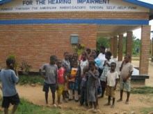 Students at Bandawe school for the hearing impaired