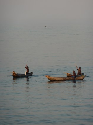Handmade boat are the means of transport for local fishermen