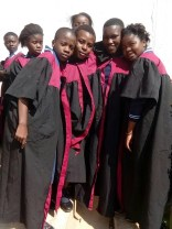 Joyce participates as one of the singers at the end of the year ceremony at wukani education facility