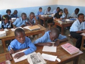 Students learning in a private school