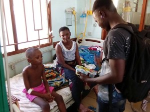 Witness is donating some basic items to hospitalised children