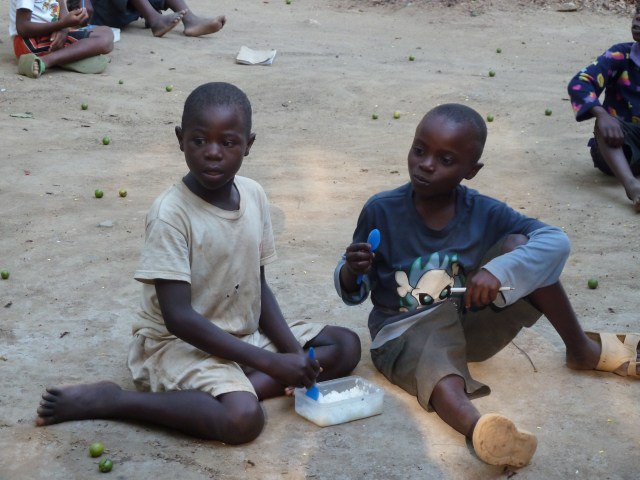 Vulnerable children often rely on international organisations for their food