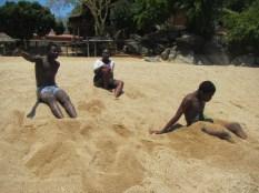Wit, Joyce and Ramos on the beach