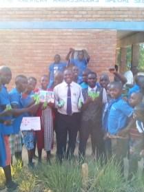 Pens and Playmobil group pic at Bandawe