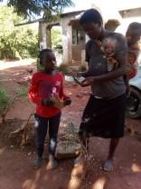 Gift receiving the money
