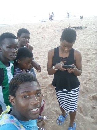 Ramos and his friends at Chikale bay