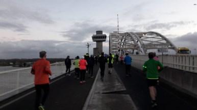 Crossing one of the bridges