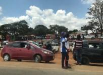 Taxi stand in Mzuzu