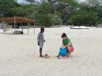 Laura and Gift at Kande beach
