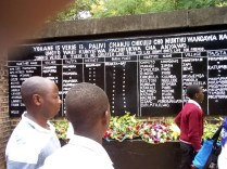At a memorial in Nkhata Bay