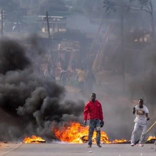 Protesters in Mzuzu