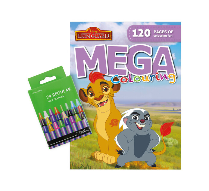 Colouring Book with 24 Wax Crayons