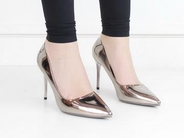 Fonda patent pu court on 10cm heel pewter