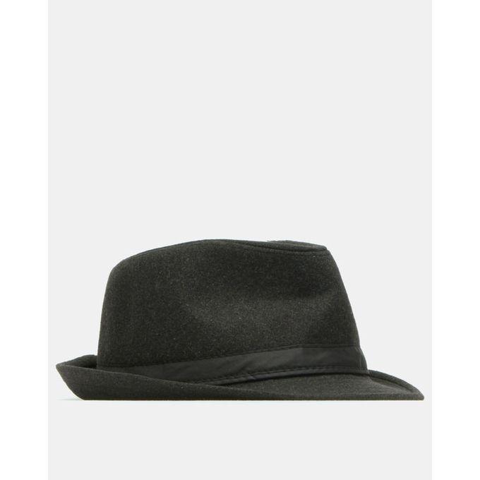 Joy Collectables Fedora Hat Dark Grey With Black Band