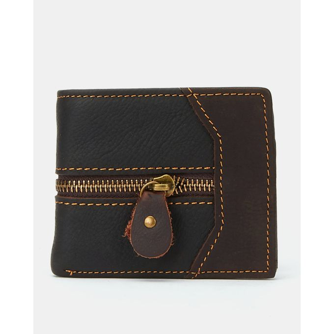 Joy Collectables Leather Zip Wallet Choc