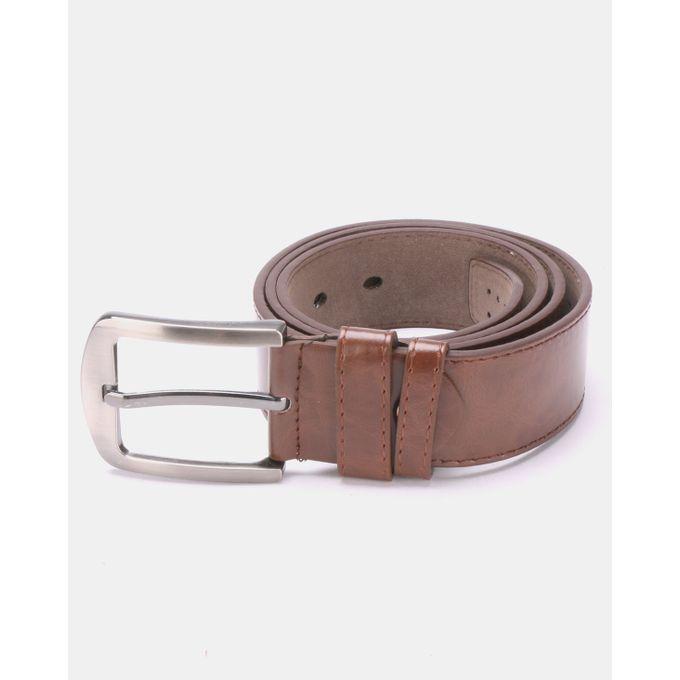 Joy Collectables Plain Buckle Belt Brown