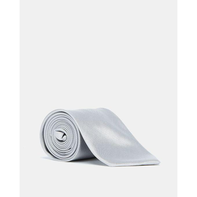 Joy Collectables Plain Twill Tie Silver