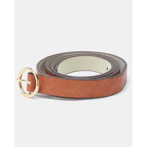 Joy Collectables Ring Buckle Belt Tan