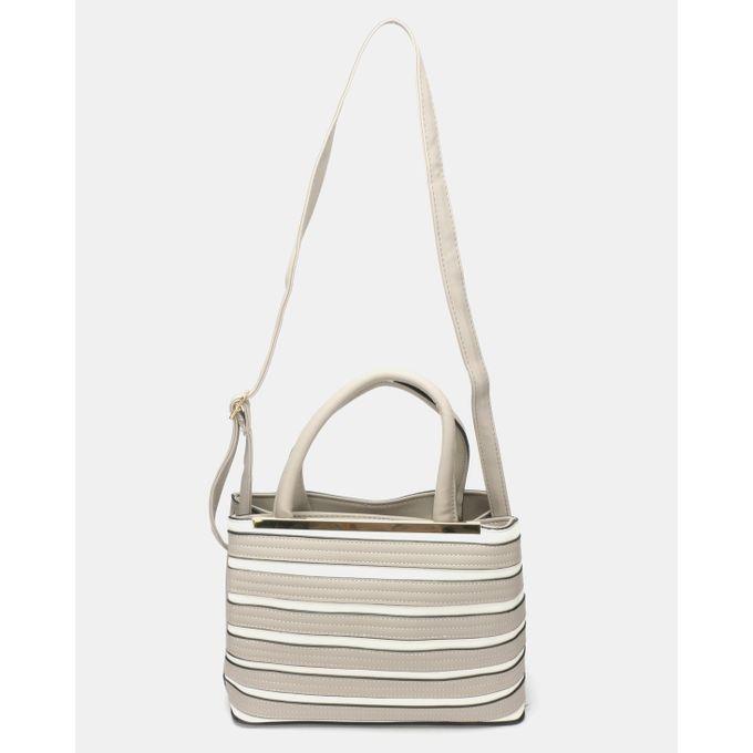 Joy Collectables Stripe Bag Beige