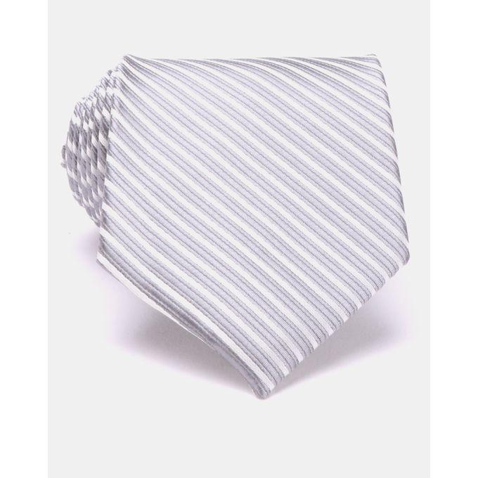 Joy Collectables Striped Tie- Grey