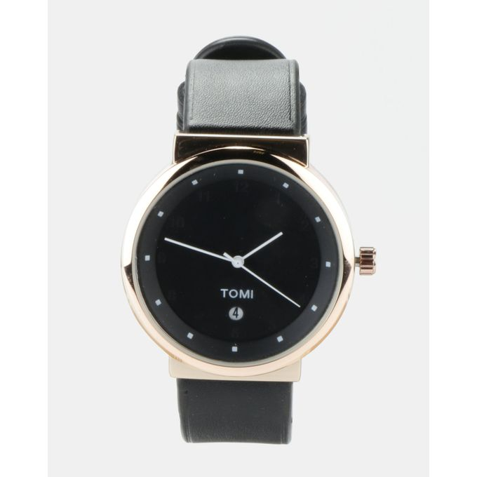 Joy Collectables Stylish Watch Black/Rose Gold