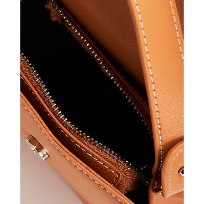 Joy Collectables Top Handle Crossbody Bag Tan