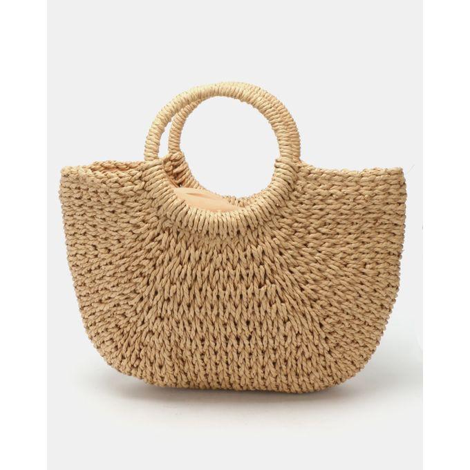 Joy Collectables Woven Straw Bag Natural