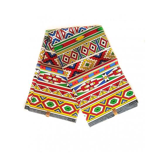 Ndebele African Print Polyester Fabrics Ankara Textiles