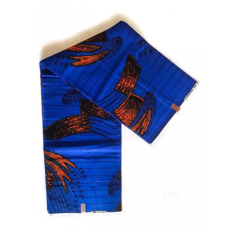 Orange Brush African Print Fabric