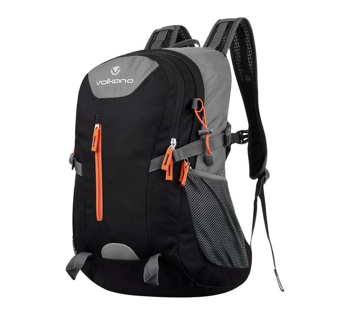 Volkano Tundra Series Daypack in Grey and Orange With Adjustable Padded Shoulder Straps for Added Comfort During Wear and 22 Litre Capacity
