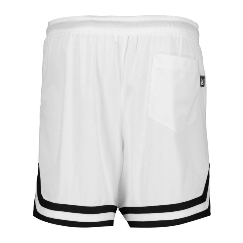 Men's White Mesh Basketball Shorts