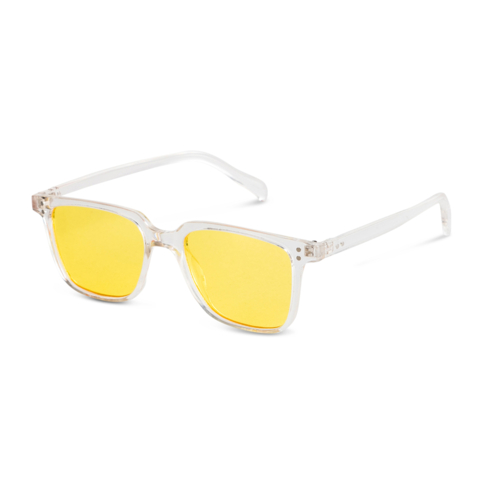 Men's Clear Frame Sunglasses with Yellow Wayferer