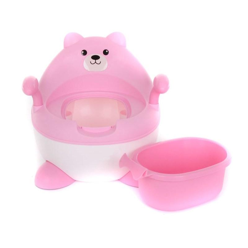 Baby Leo Bear Potty Pink