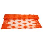 Embroidered Tulle - Orange Star-Leaf