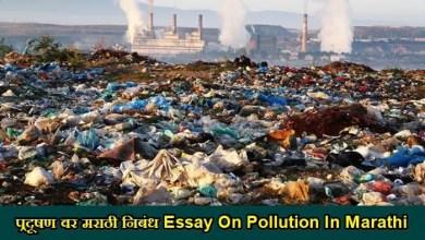Photo of प्रदूषण वर मराठी निबंध Essay On Pollution In Marathi