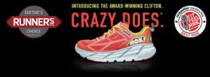 Crazy Does, CLIFTON, Hoka August 2014