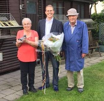 Comb. T. Jonkers, Delwijnen, winnen 1e Perigueux 2016 in sector III