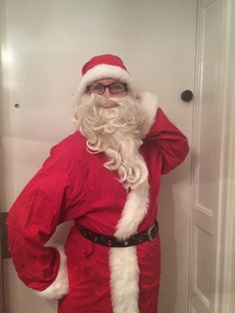 Här är min löparmundering på julafton. Foto: privat