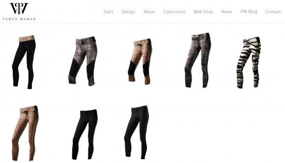 En site att dregla över och önska från. Foto: skärmdump från Powerwoman.com
