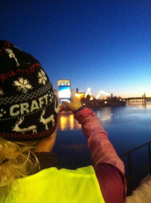 Tidiga mornar och sena kvällar springer vi ihop. Allt för att få de vackraste Instagrambilderna ;)  Foto: privat