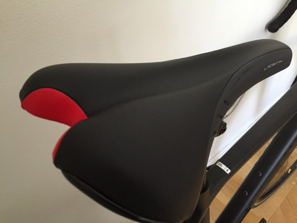 Snygg sadel att matcha en cykelhäck? Foto: privat