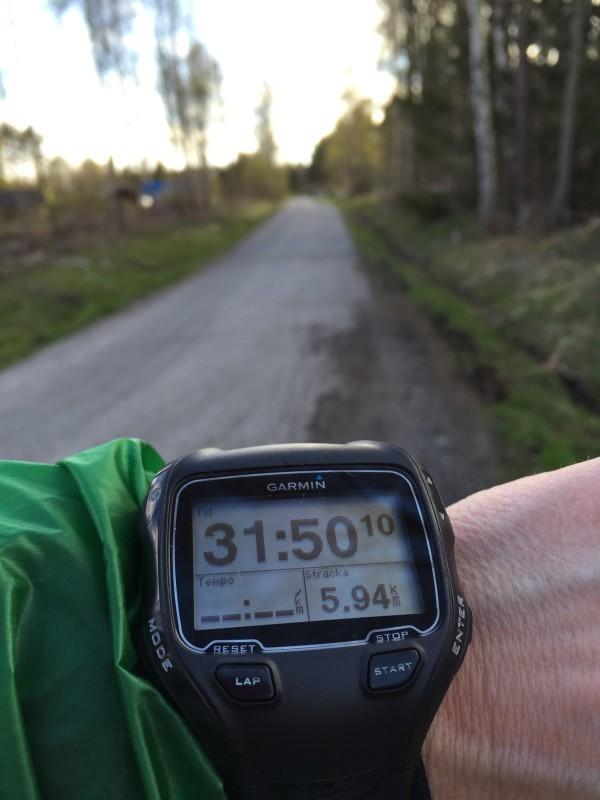 6 kilometer in i rundan. Foto: privat