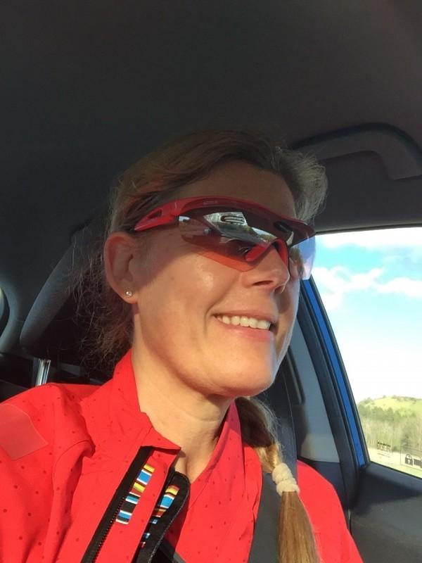 Med trasig RallyMazda blev det till att köra BlåBert till Trosa. Foto: privat